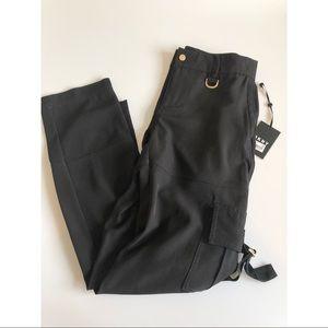 Dkny Pants - New DKNY black cargo polyester casual pants Sz 2